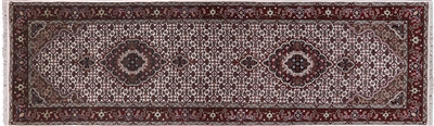 Wool & Silk Hand Knotted Persian Tabriz Runner Rug