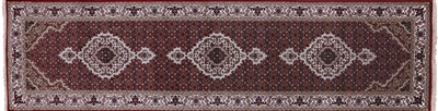 Persian Mahi Tabriz Wool & Silk Runner Rug