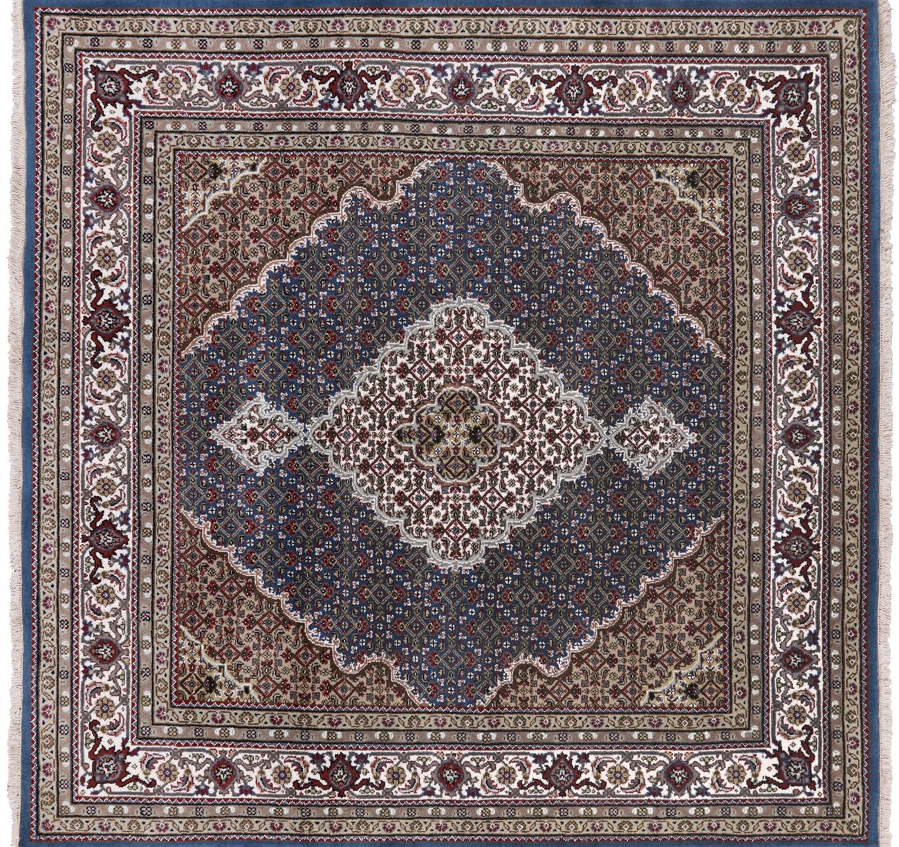 Silk Persian Tabriz Handmade Area Rug