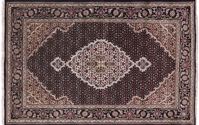 Persian Mahi Tabriz Wool & Silk Area Rug