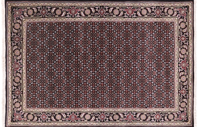 Persian Tabriz Handmade Wool & Silk Area Rug