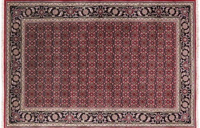 Hand Knotted Wool & Silk Persian Tabriz Rug