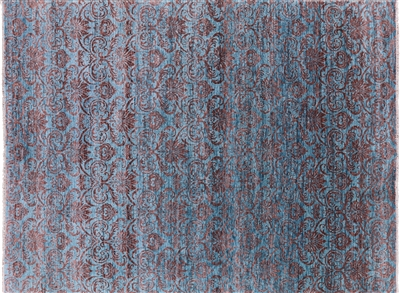 Hand Knotted Wool Damask Design Area Rug