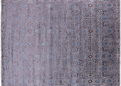 Hand Knotted Wool & Silk All Over Area Rug