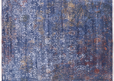 Contemporary Hand Knotted Wool & Silk Area Rug