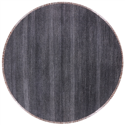 Round Wool & Silk Savannah Grass Hand Knotted Rug
