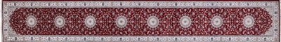 Persian Nain Wool & Silk Hand Knotted Runner Rug