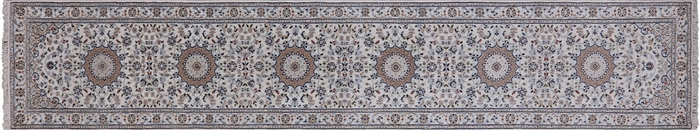 Runner Wool & Silk Persian Nain Rug