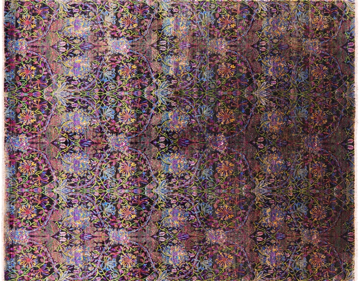 Hand Knotted Silk Persian Area Rug