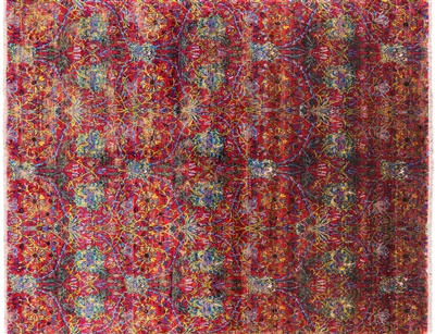 All Over Handmade Pure Silk Persian Area Rug