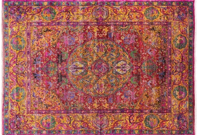 Persian Hand Knotted Silk Rug