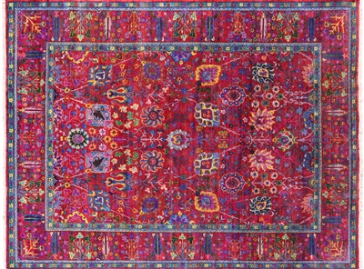 Persian Hand Knotted Silk Area Rug