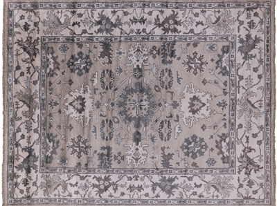 Hand Knotted Silk Oushak Area Rug