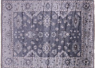 Oushak Pure Silk Hand Knotted Area Rug