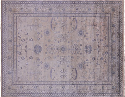 Pure Silk Oushak Hand Knotted Area Rug