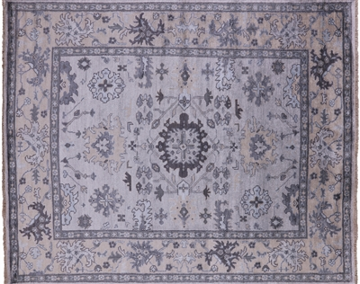 Oushak Silk Persian Hand Knotted Rug