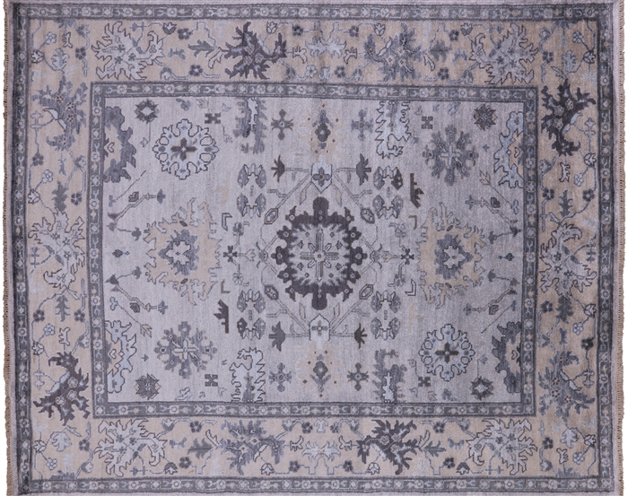 Oushak Silk Hand Knotted Rug