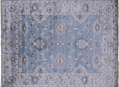 Silk Hand Knotted Oushak Area Rug