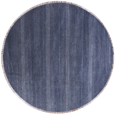 Wool & Silk Gabbeh Savannah Grass Round Rug