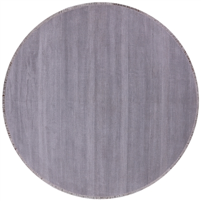 Savannah Grass Hand Knotted Wool & Silk Round Area Rug