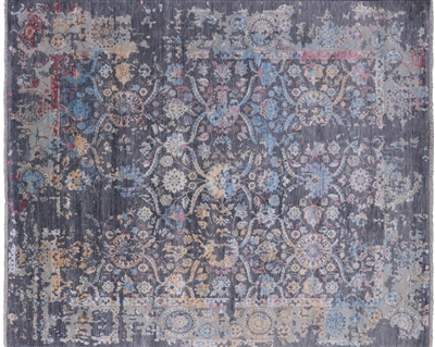 Wool & Silk Hand Knotted Persian Area Rug