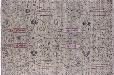 Cypress Tree Hand Knotted Oriental Wool & Silk Area Rug