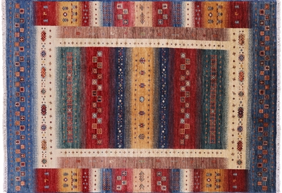 Super Gabbeh Lori Buft Hand Knotted Wool Rug