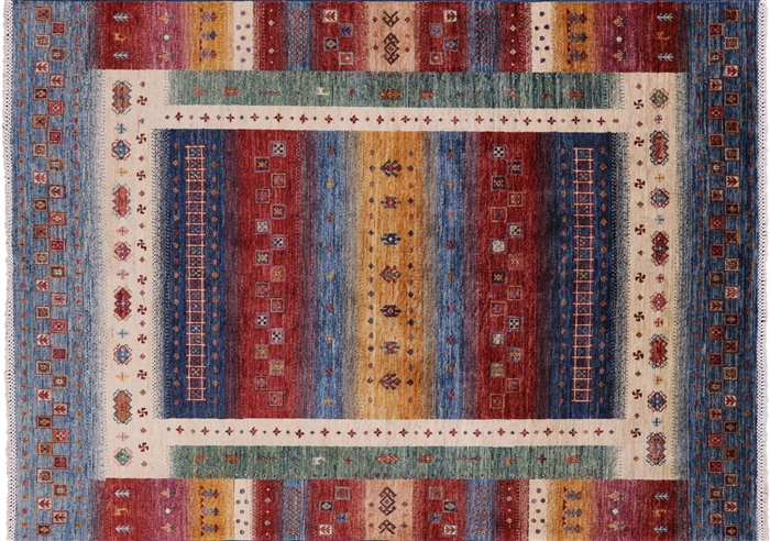 Hand Knotted Lori Buft Super Gabbeh Wool Rug