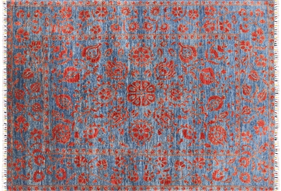 William Morris Hand Knotted Oriental Wool Area Rug