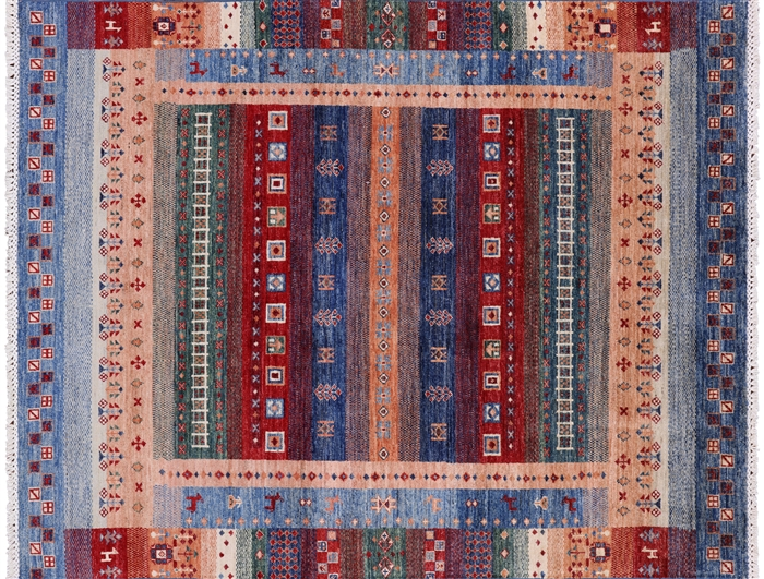 Super Gabbeh Hand Knotted Lori Buft Oriental Area Rug