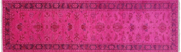 Persian Overdyed Hand Knotted Full Pile Wool Runner Rug
