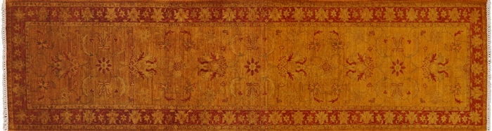 Persian Overdyed Full Pile Wool Hand Knotted Runner Rug