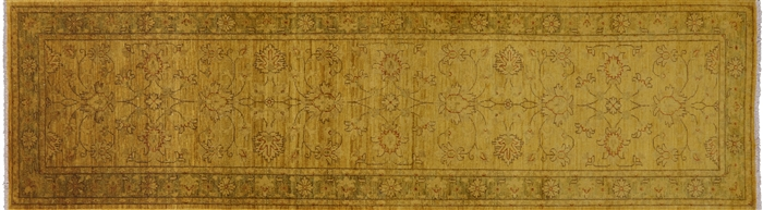 Runner Full Pile Wool Overdyed Hand Knotted Rug