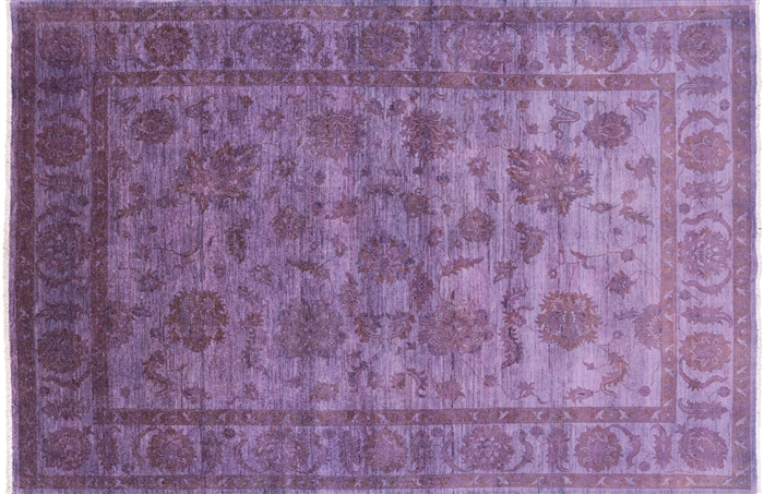 Full Pile Wool Hand Knotted Persian Overdyed Area Rug