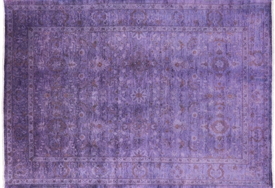 Persian Overdyed Full Pile Wool Hand Knotted Area Rug