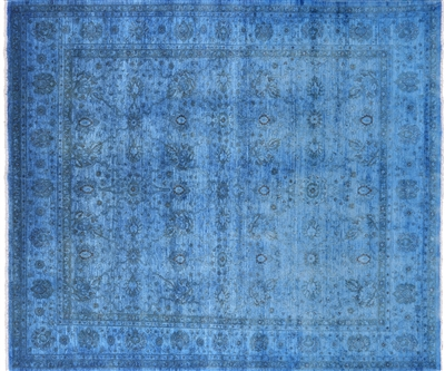 Overdyed Full Pile Wool Area Rug