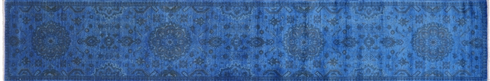 Runner Persian Overdyed Hand Knotted Full Pile Rug