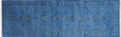Runner Persian Overdyed Full Pile Wool Rug