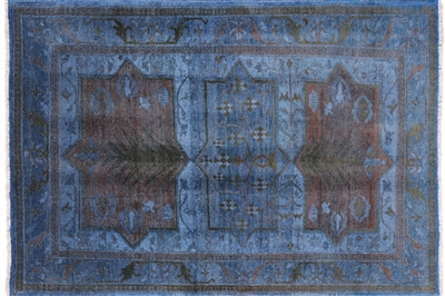 Super Kazak Hand Knotted Overdyed Full Pile Wool Rug