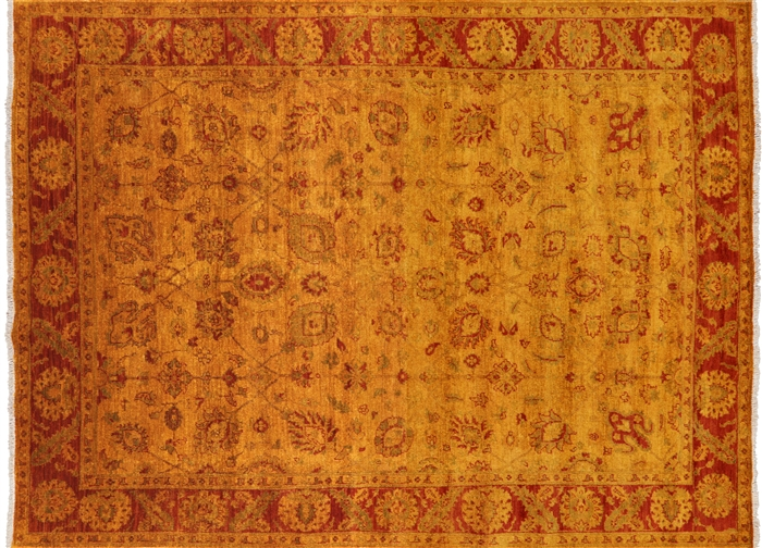 Hand Knotted Full Pile Persian Overdyed Wool Area Rug