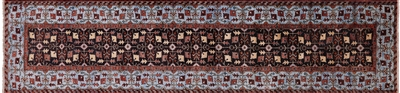 Fine Serapi Hand Knotted Wool Runner Rug