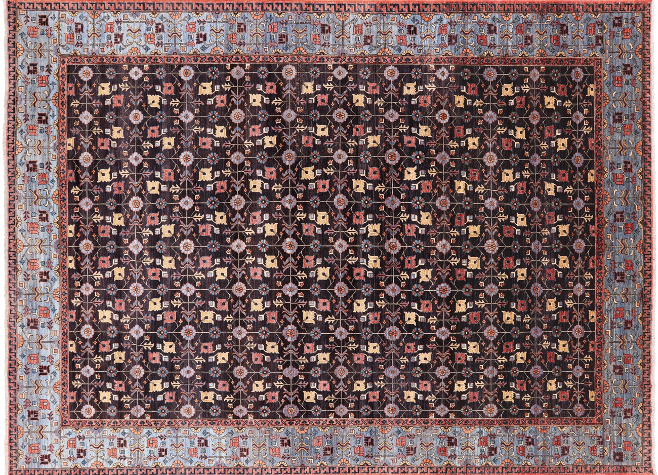 10 X 14 Fine Serapi Hand Knotted Wool Rug P9980