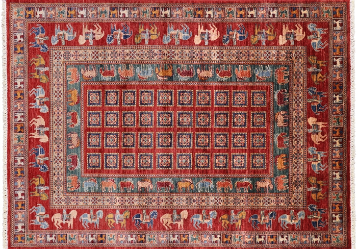 Antiqued Pazyryk Historical Design Handmade Area Rug