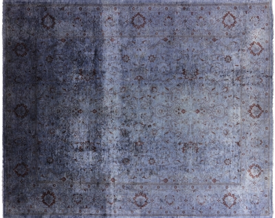 Persian Full Pile Overdyed Hand Knotted Rug