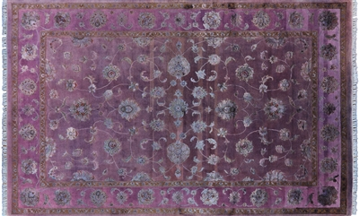 Wool & Silk Full Pile Overdyed Rug
