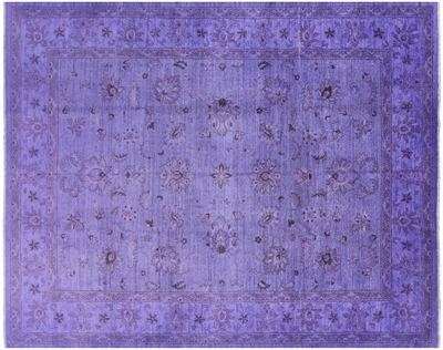 Full Pile Overdyed Hand Knotted Area Rug
