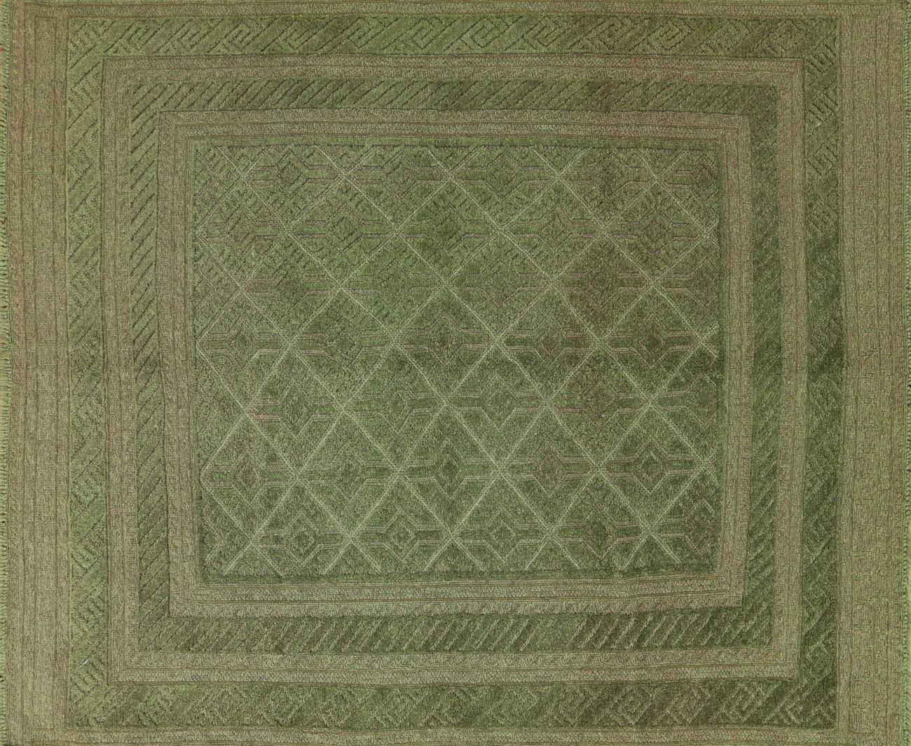 Overdyed Moss Green Rug 4 10 Quot X6 Hand Knotted Wool