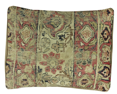 Vintage Persian Kerman Pillow Case