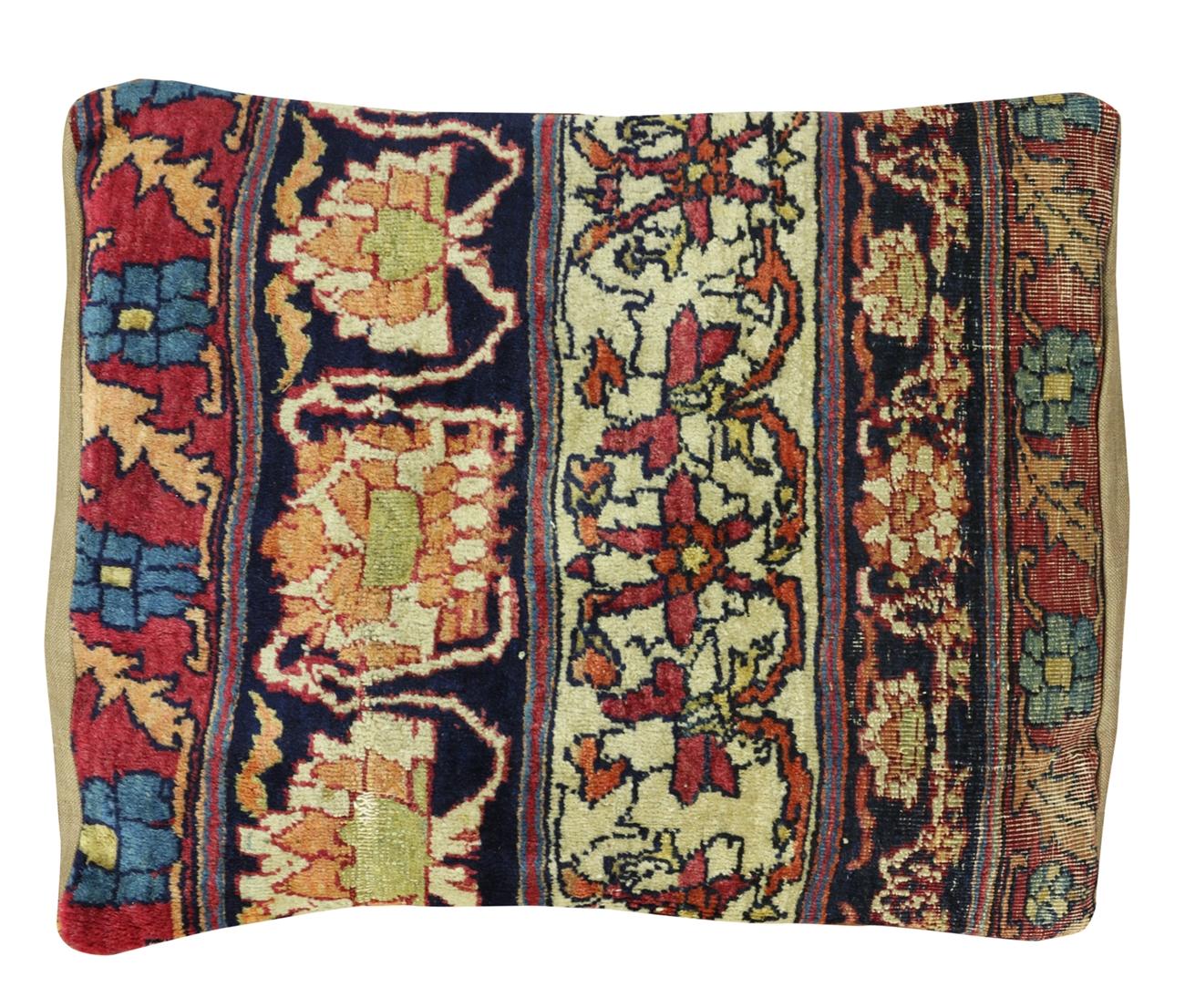 Vintage Persian Kerman Pillow Case 16 X 20