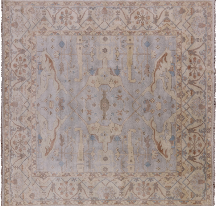 Traditional Square Oushak Wool Area Rug